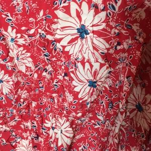 Pure Energy Tops - Red&Blue Floral Blouse